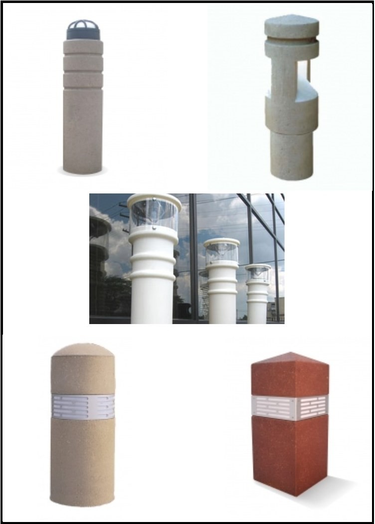 Lighted Bollards & Sleeves