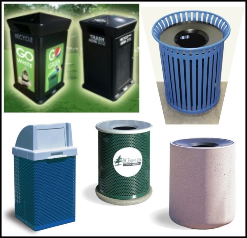 Trash Cans & Recycle Bins