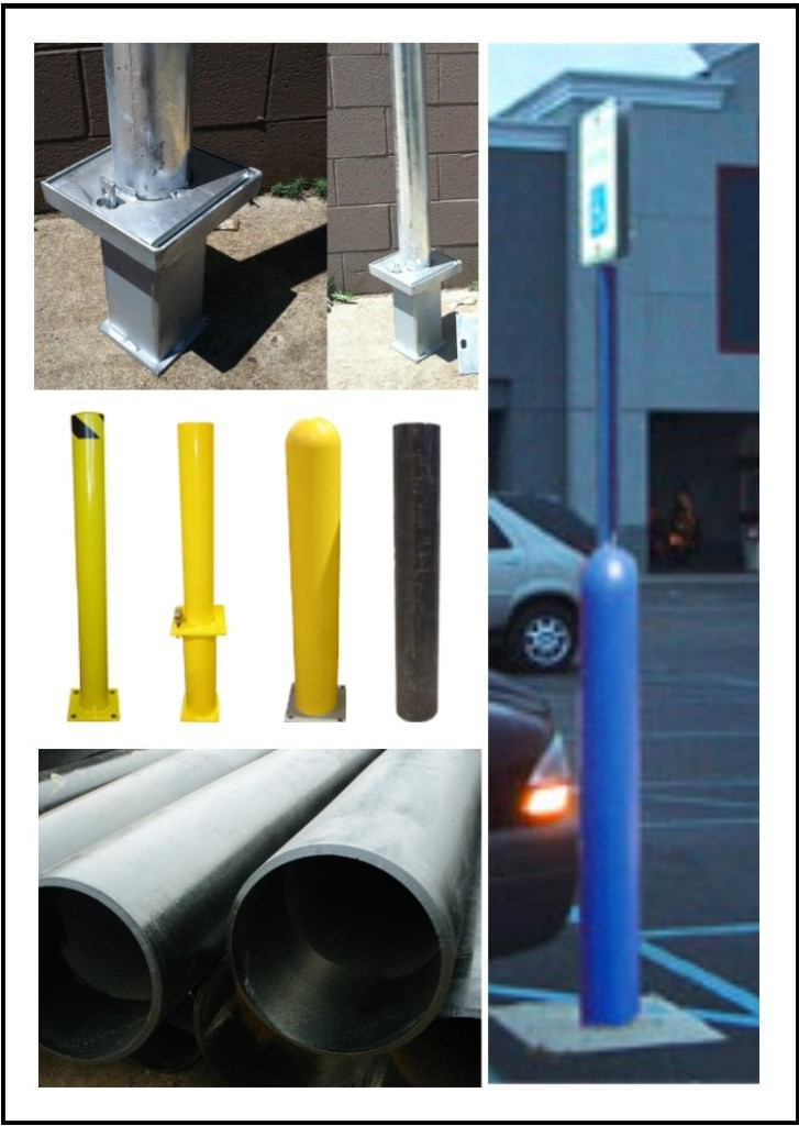 Steel Pipes, Pipe Bollards & Bollard Sign Posts
