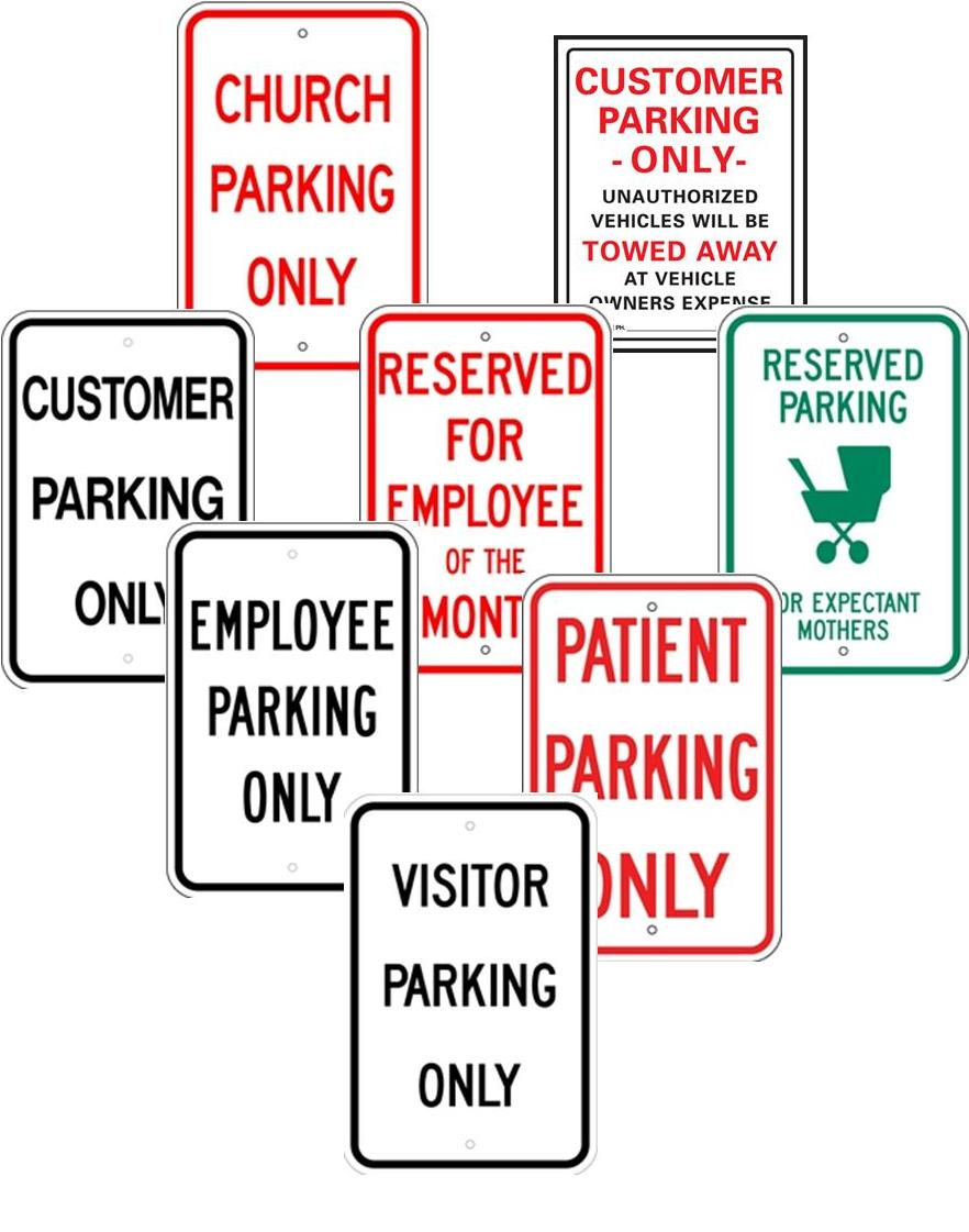 PARKING FOR CUSTOMERS,TENANTS, VISITORS, EMPLOYEES, ETC