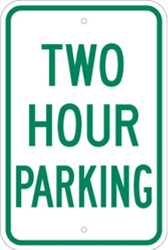 "Image logo for PARKING SIGNS | 12"" x 18"" x 0.080 Aluminum Sign: PARKING W/ TIME RESTRICTIONS"