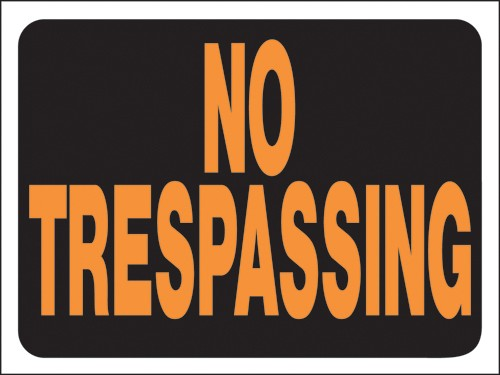 "Image logo for No Trespassing Signs |12"" x 9"" Hy-Glo Plastic Sign:  NO TRESPASSING"