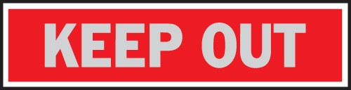 "Image logo for 8"" x 2"" Aluminum Princess Sign: KEEP OUT"