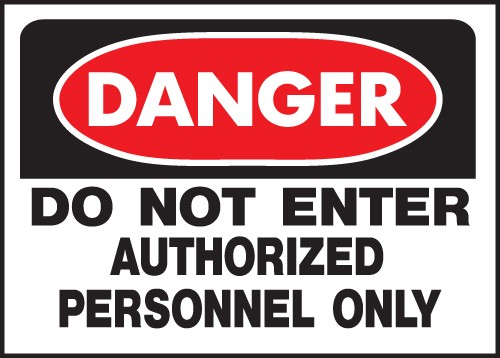 "Image logo for 14"" x 10"" Heavy-Duty Polyethylene OSHA Sign:  DANGER - DO NOT ENTER..."