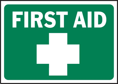 Adaptable image for first aid sign printable