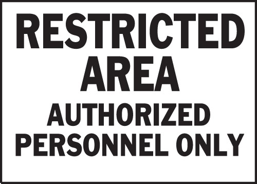 "Image logo for 14"" x 10"" Heavy-Duty Polyethylene OSHA Sign:  RESTRICTED AREA...."
