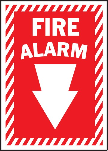 "Image logo for 10"" x 14"" Heavy-Duty Polyethylene OSHA Sign:  FIRE ALARM"