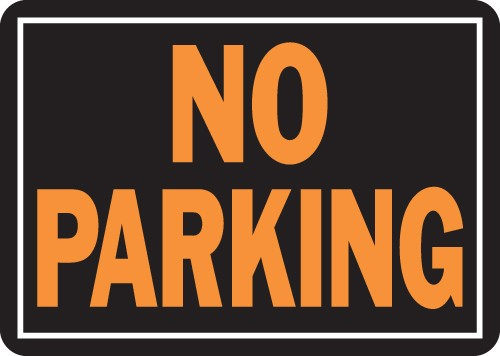 "Image logo for 14"" x 10"" Hy-Glo Aluminum Sign:  NO PARKING"