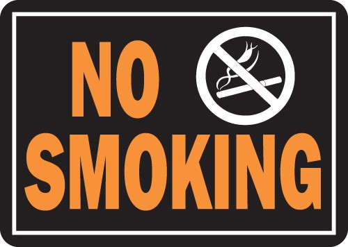 "Image logo for 14"" x 10"" LG - Hy-Glo Aluminum Sign:  NO SMOKING"