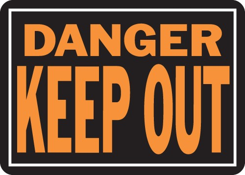 """Image logo for 14"""" x 10"""" LG - Hy-Glo Aluminum Sign:  DANGER - KEEP OUT"""