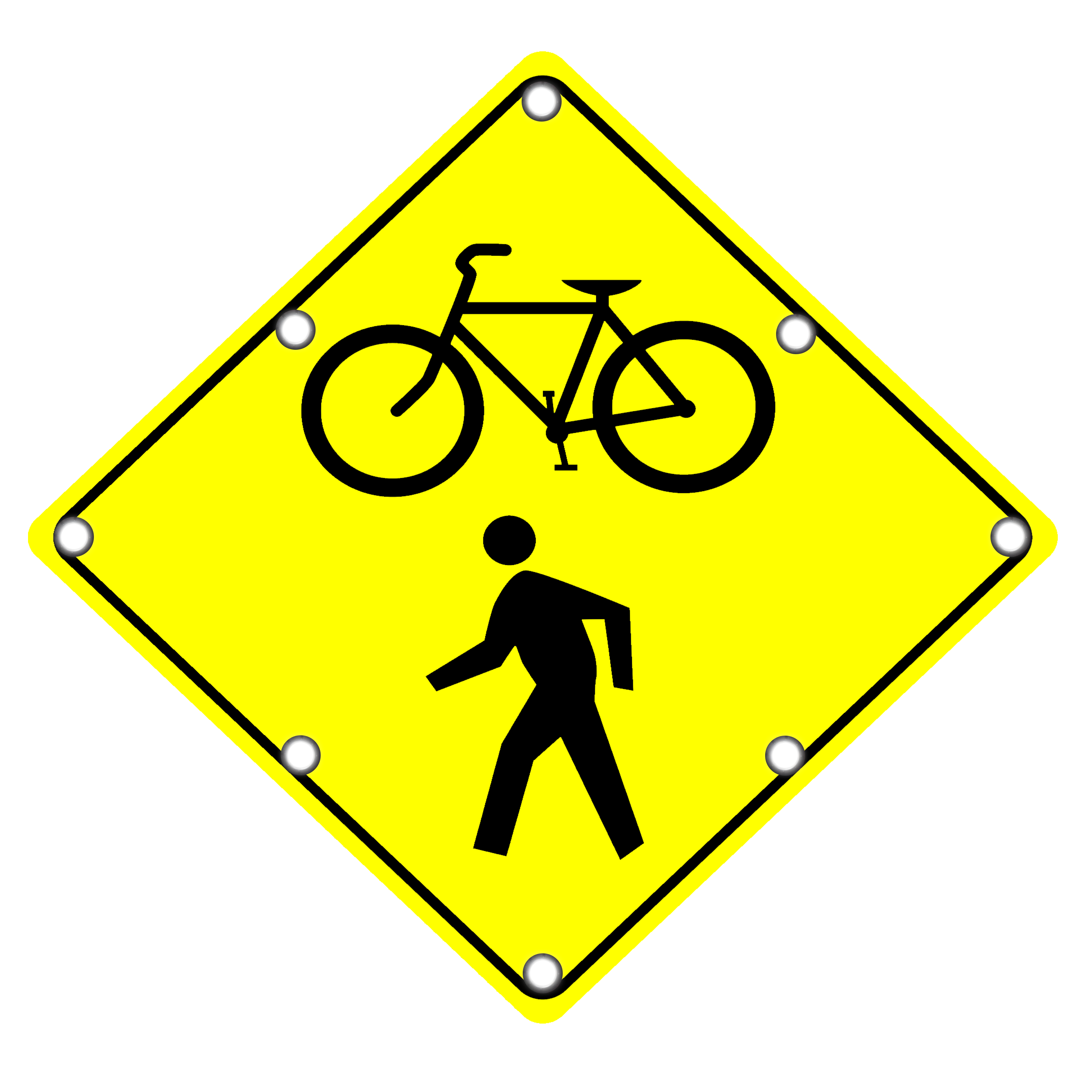 Image logo for Lighted Roadway Signs -  PEDESTRIAN/ BICYCLE CROSSING Sign