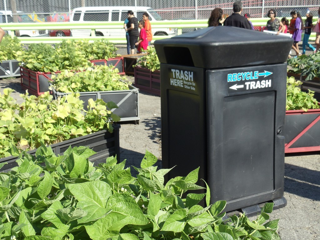 Image logo for Ideal Shield Clean N' Green Trash & Recycling Can