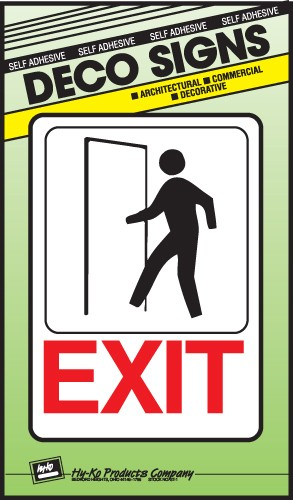 "Image logo for 5"" x 7"" DECO Sign: EXIT"
