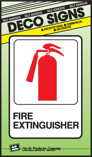 "Image logo for 5"" x 7"" DECO Sign: FIRE EXTINGUISHER"