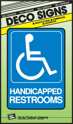 "Image logo for 5"" x 7"" DECO Sign:  HANDICAPPED RESTROOMS (Wheelchair Accessible)"