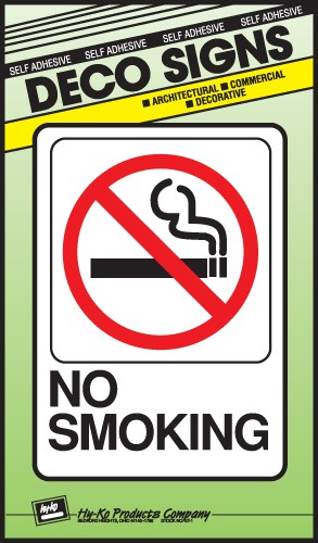 "Image logo for 5"" x 7"" DECO Sign:  NO SMOKING"