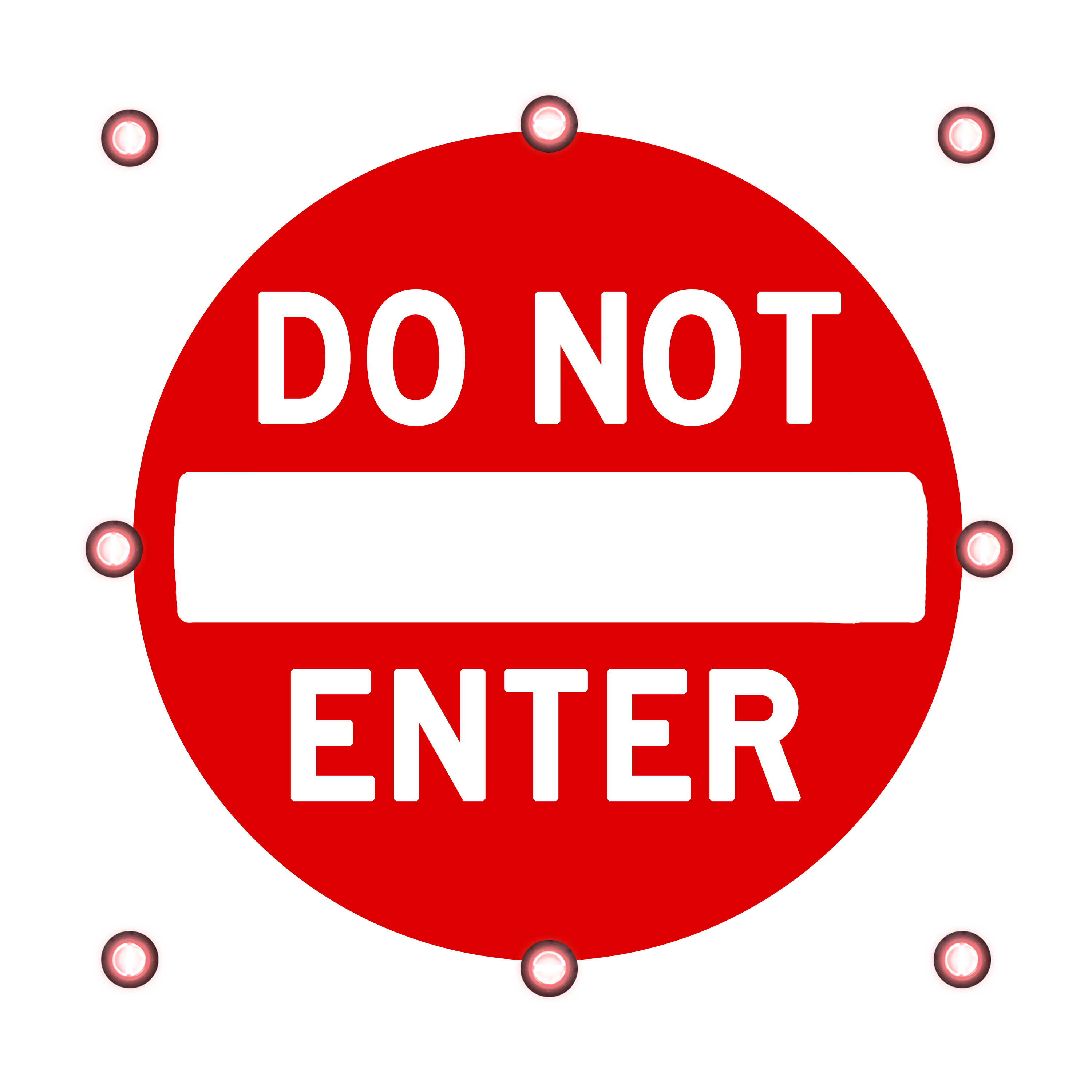 Image logo for Lighted Roadway Signs - DO NOT ENTER Sign