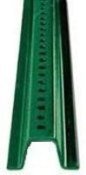 Image logo for Posts: U-Channel - Green Baked Enamel - 2 lbs / foot