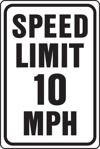 "Image logo for Speed Signs |12"" x 18"" x 0.040 Aluminum Sign: SPEED LIMIT (Various Speeds)"