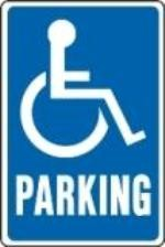 "Image logo for Handicap Parking Signs | (VARIOUS STATES)  12"" x 18"" x 0.040 Aluminum Sign: BLUE HANDICAPPED PARKING"