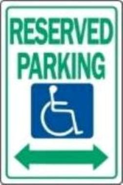 "Image logo for Handicap Parking Signs | R7-8-DA - 12"" x 18"" x 0.040 Aluminum Sign: FEDERAL HANDICAPPED PARKING (w/ Double Arrows)"