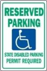 "Image logo for Handicap Parking Signs | (WASHINGTON STATE)  12"" x 18"" x 0.040 Aluminum Sign: HANDICAPPED PARKING"