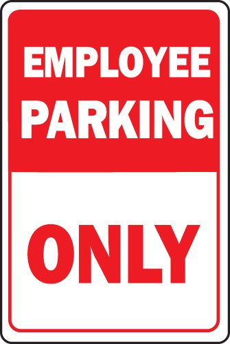 "Image logo for Employee Parking Sign | 12"" x 18"" x 0.040 Aluminum Sign:  EMPLOYEE PARKING ONLY"