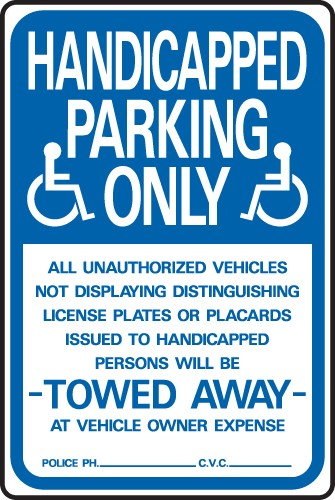 "Image logo for Handicap Parking Signs | 12"" x 18"" x 0.040 Aluminum Sign: HANDICAPPED PARKING ONLY..."
