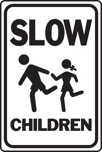 "Image logo for 12"" x 18"" x 0.040 Aluminum Sign: SLOW - CHILDREN"