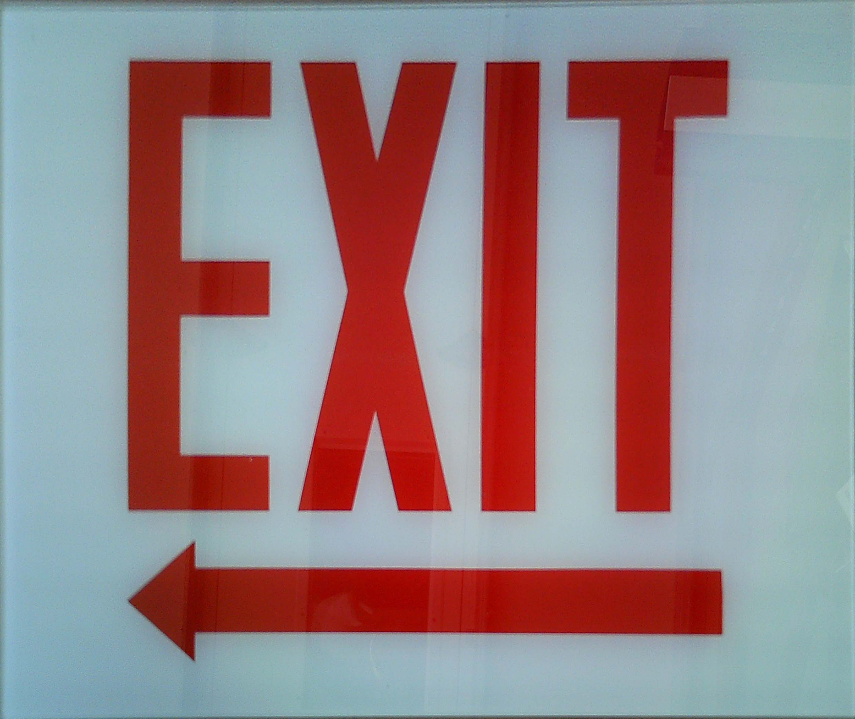 Image logo for Exit Sign - Glass Replacement Sign: EXIT (Left Arrow)