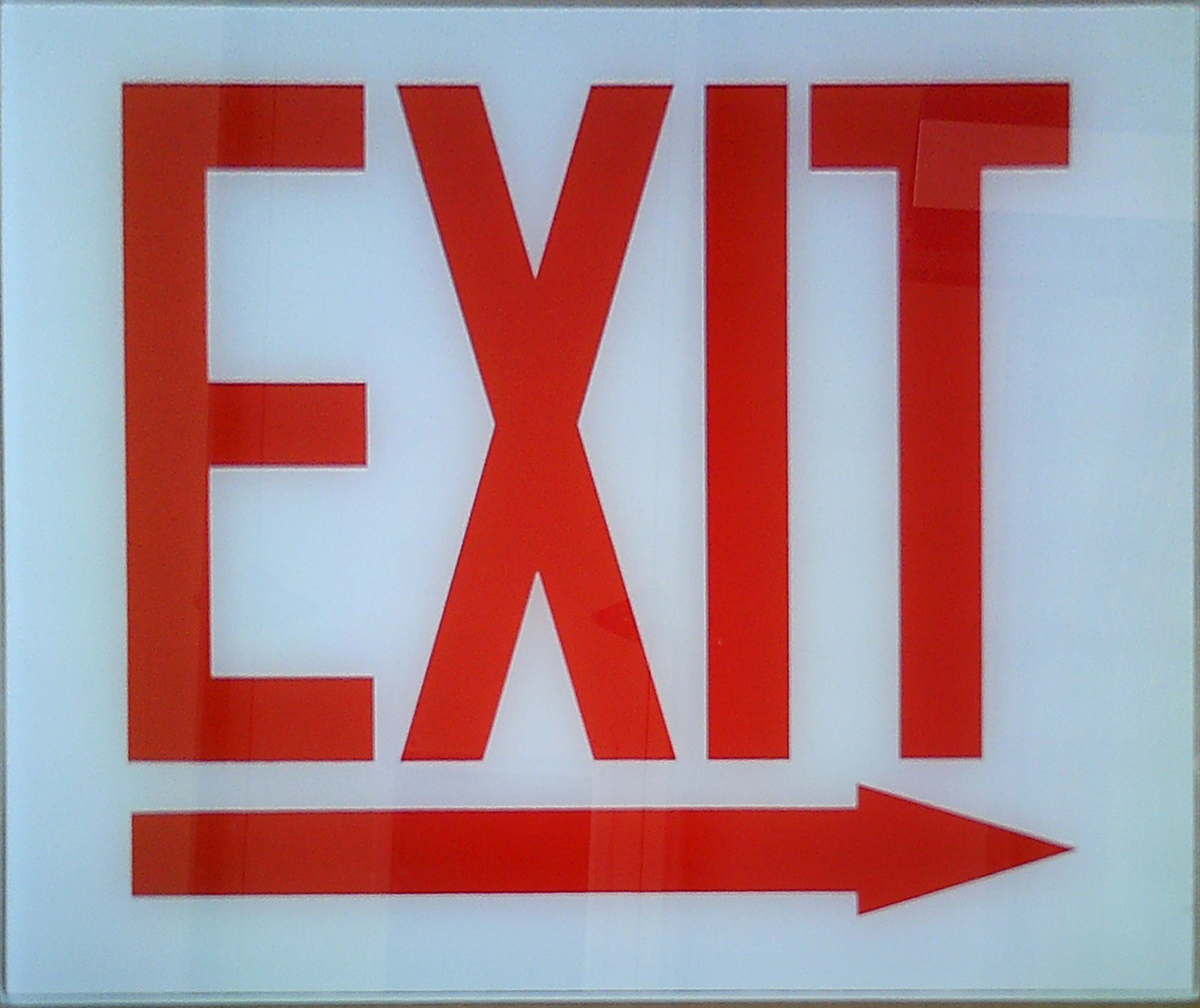 Image logo for Exit Sign - Glass Replacement Sign: EXIT (Right Arrow)
