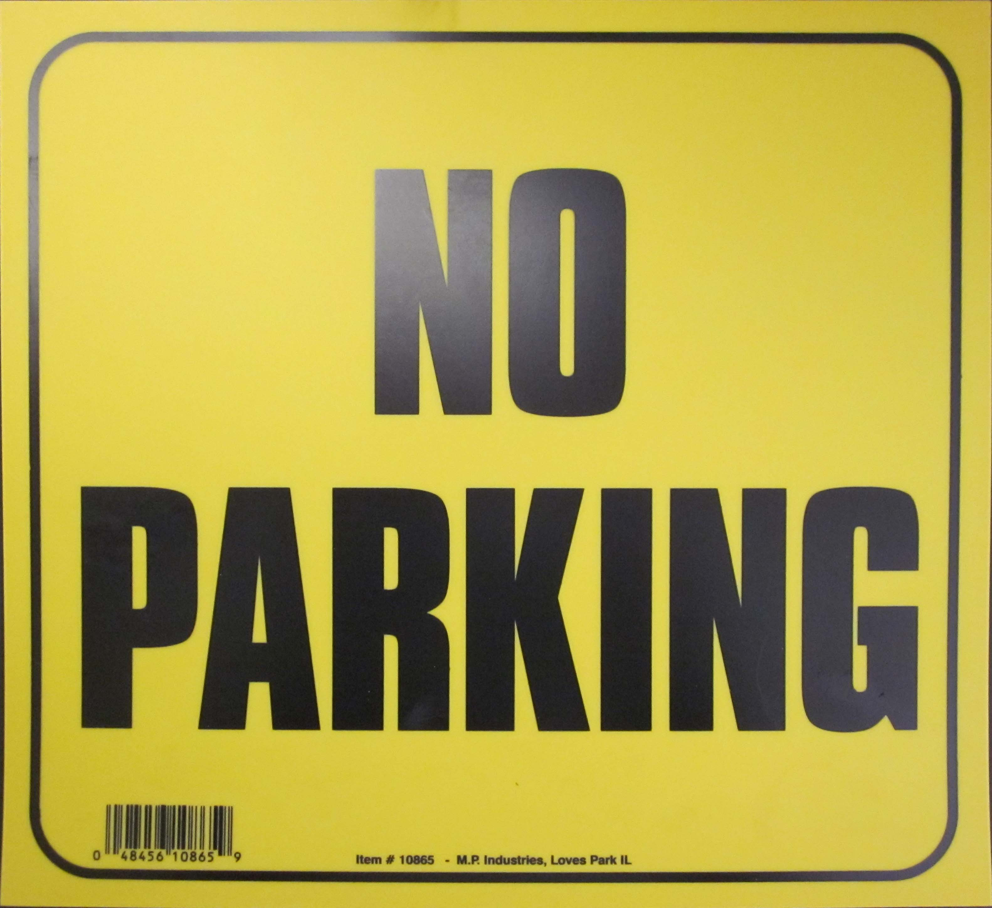 "Image logo for 11"" x 10"" Heavy-Duty Plastic Sign: NO PARKING"