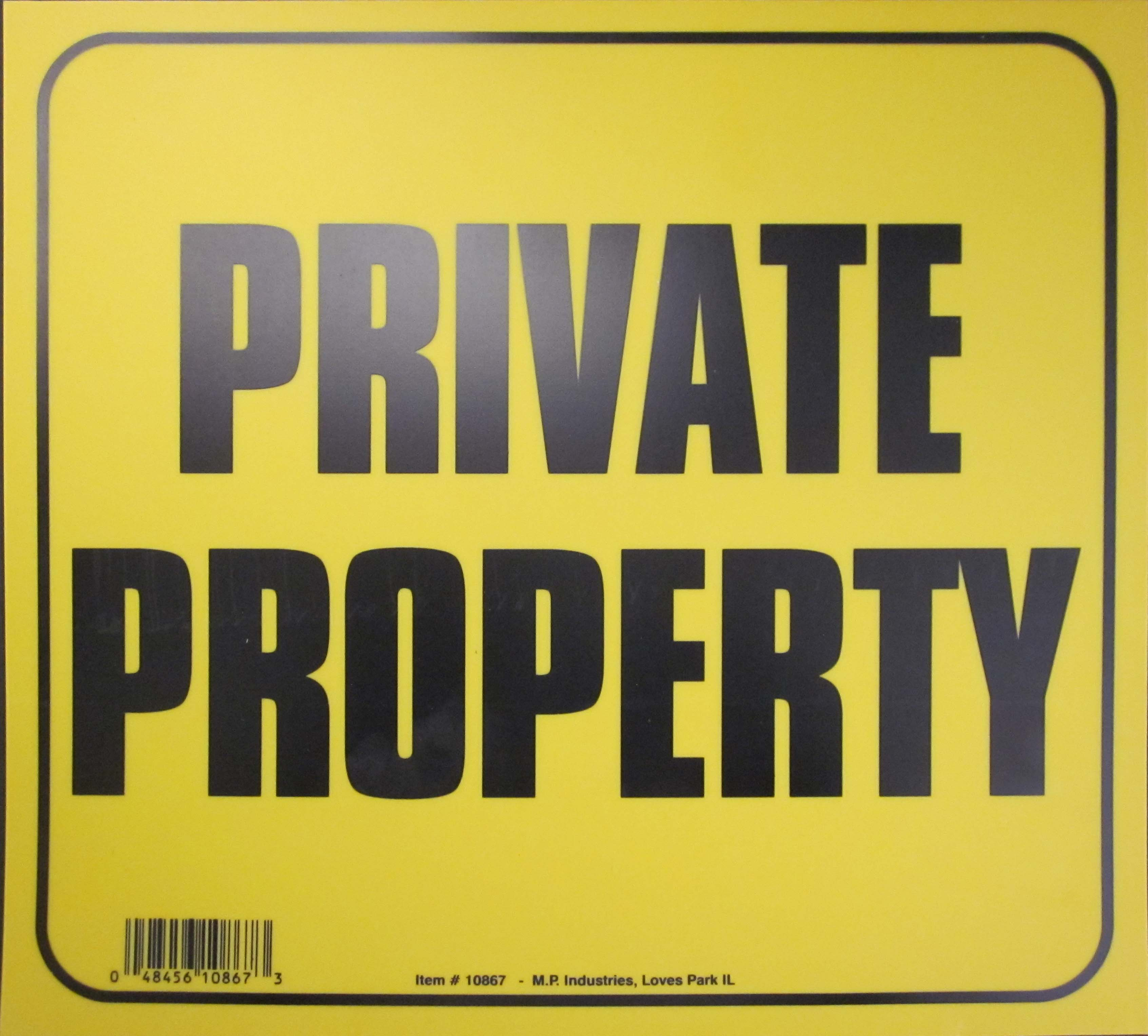 "Image logo for 11"" x 10"" Heavy-Duty Plastic Sign:  PRIVATE PROPERTY"
