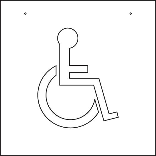 Image logo for PVC HANDICAP PARKING STENCIL