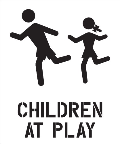 Image logo for CHILDREN AT PLAY STENCIL