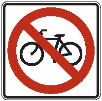 "Image logo for R5-6 - 24"" x 24"" x 0.080 Aluminum Sign: NO BICYCLES (Symbol)"