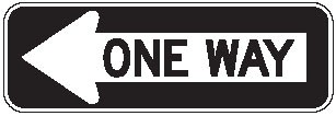 "Image logo for R6-1 - 36"" x 12"" x 0.080 Aluminum Sign: ONE WAY (Left or Right)"