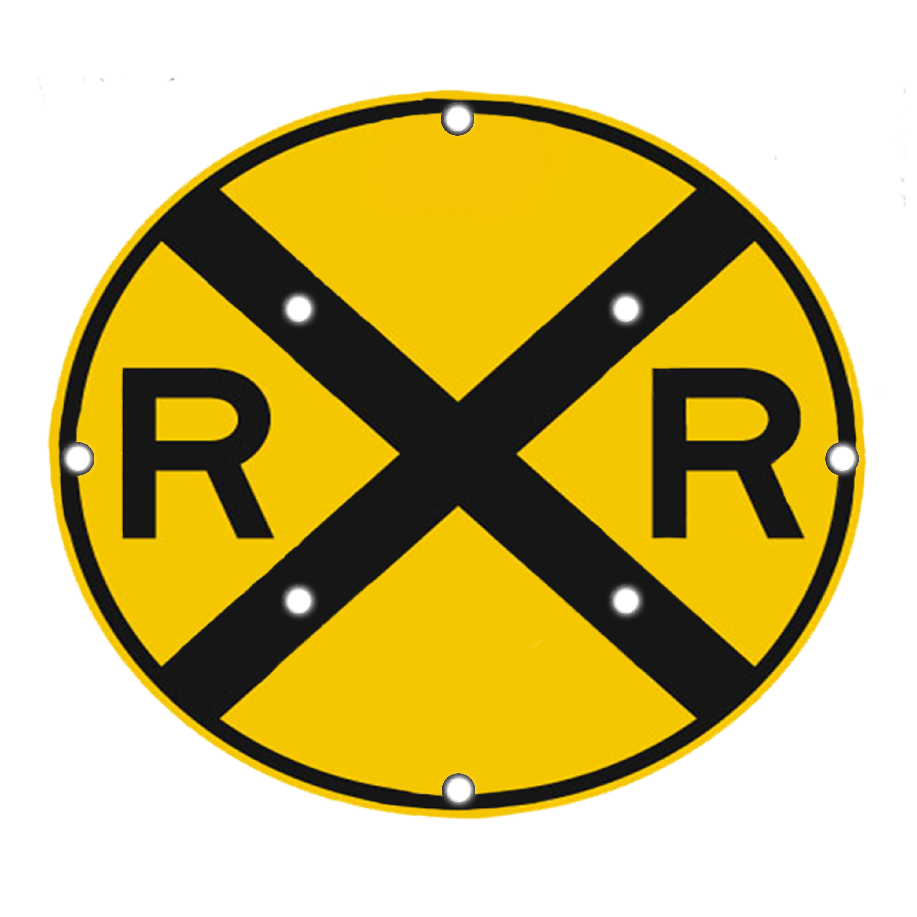 Image logo for Lighted Roadway Signs -  RAILROAD CROSSING sign