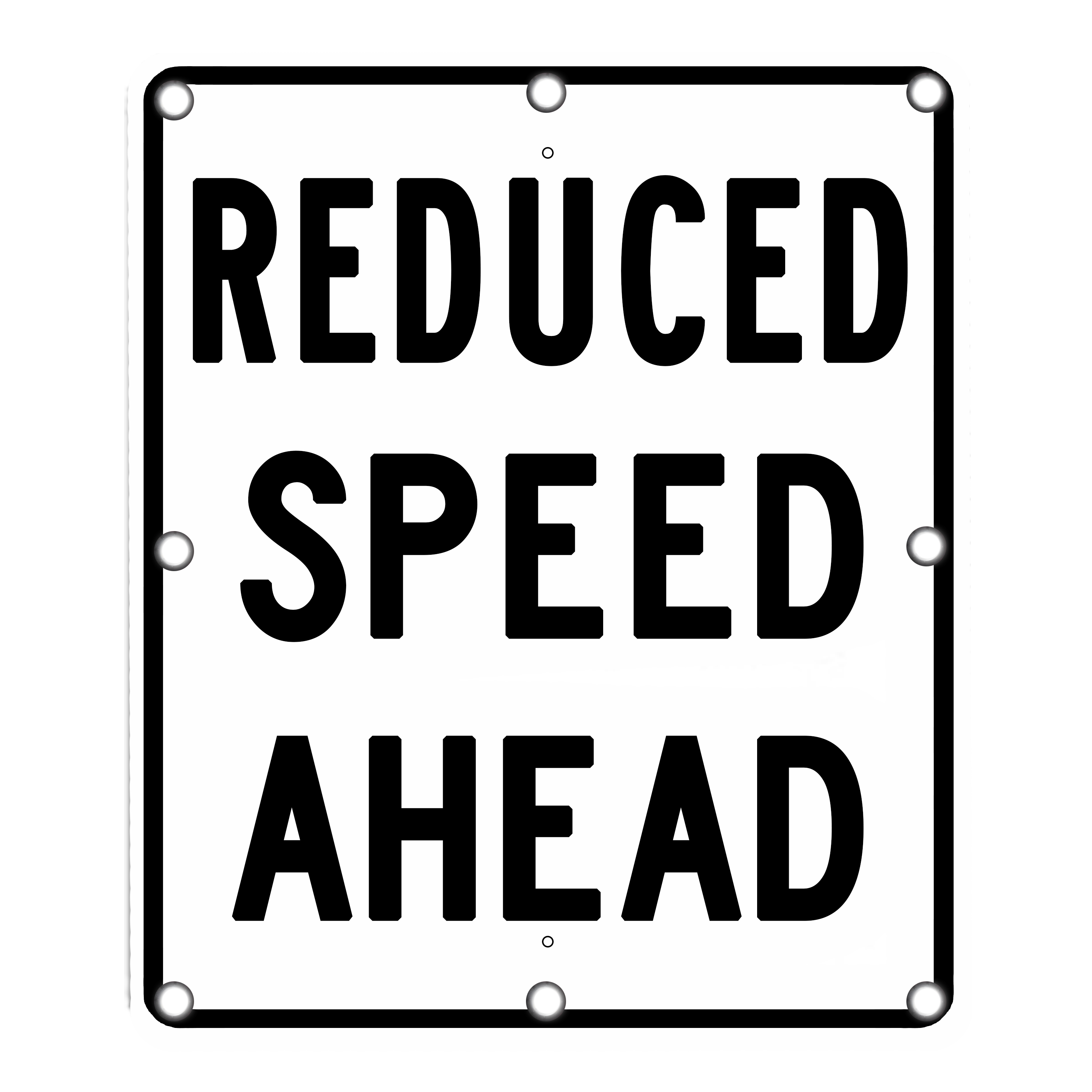 Image logo for Lighted Roadway Signs -  REDUCE SPEED AHEAD sign