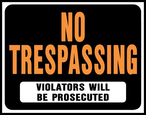 "Image logo for No Trespassing Signs | 19"" x 15"" Hy-Glo Plastic Sign:  NO TRESPASSING"