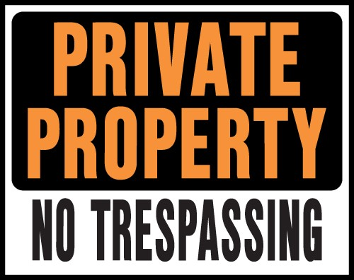 "Image logo for Private Property Signs | 19"" x 15"" Hy-Glo Plastic Sign:  PRIVATE PROPERTY - NO TRESPASSING"