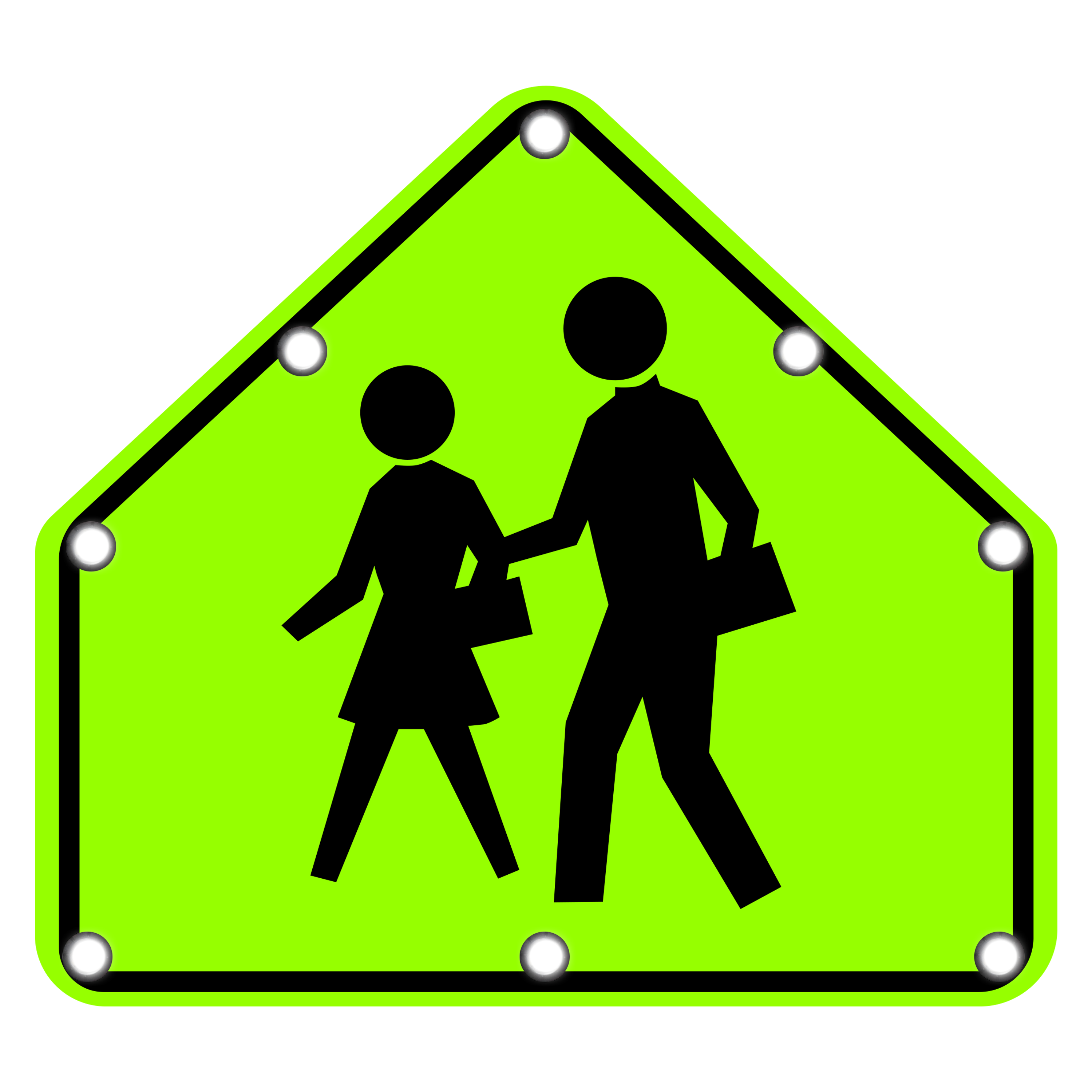 Image logo for Lighted Roadway Signs -  SCHOOL CROSSING Sign