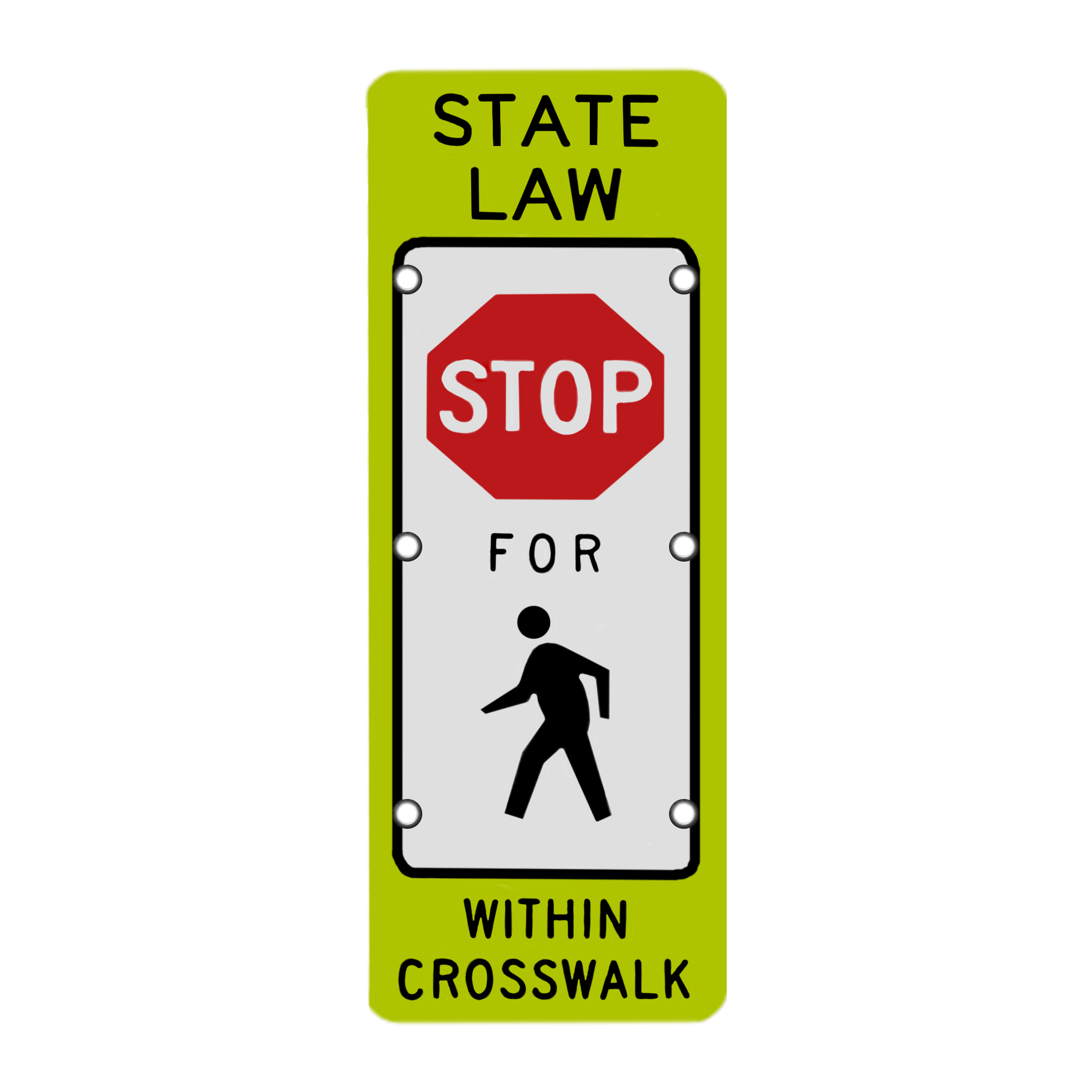 Image logo for Lighted Roadway Signs - STATE LAW:  STOP For PEDESTRIANS in CROSSWALK Sign