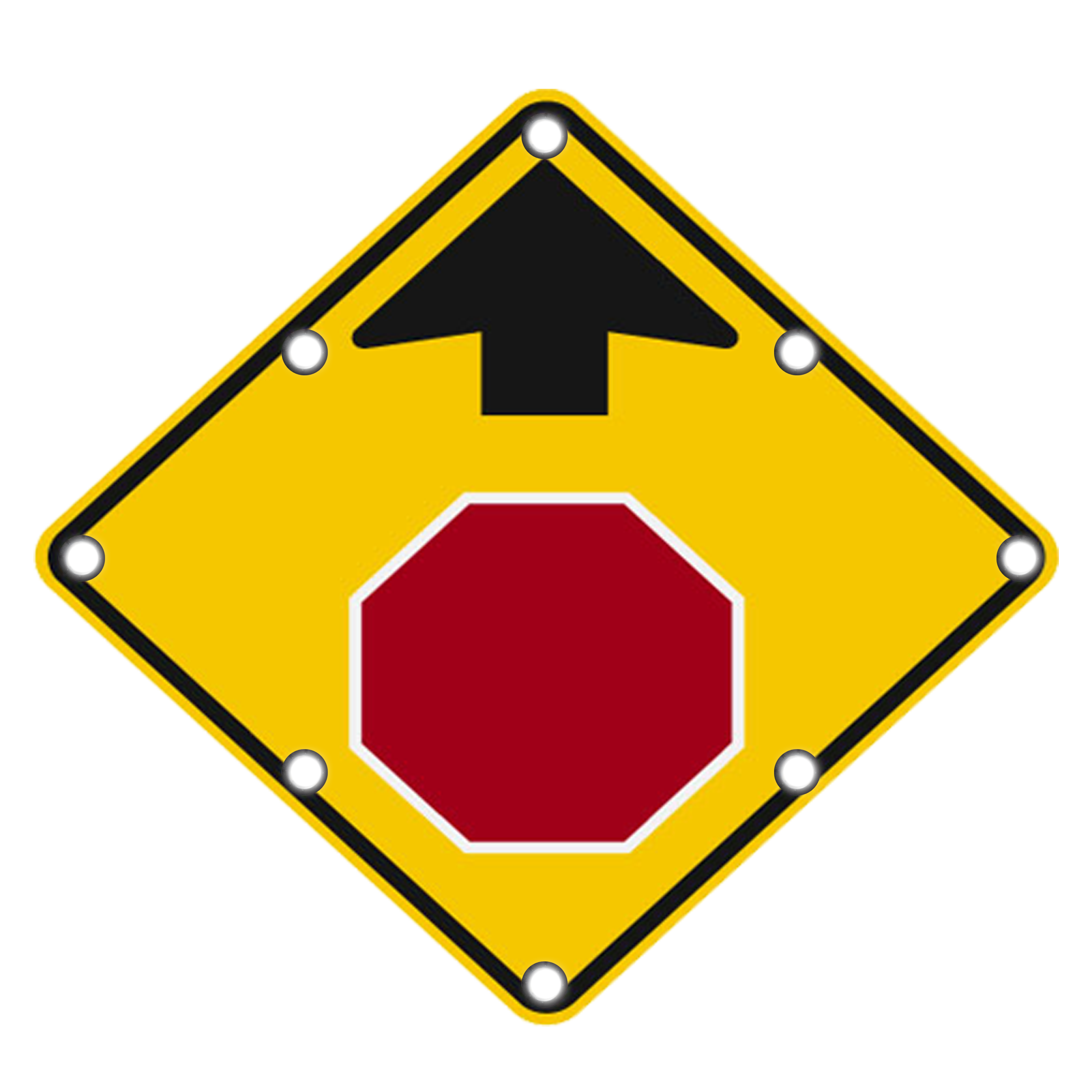Image logo for Lighted Roadway Signs -  STOP AHEAD Sign