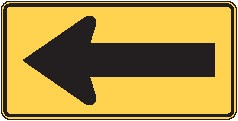 """Image logo for W1-6 - 48"""" x 24"""" x 0.080 Aluminum Sign: ONE-DIRECTIONAL ARROW (Interchangeable)"""