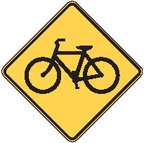"Image logo for W11-1 - 24"" x 24"" x 0.080 Aluminum Sign: BICYCLE CROSSING (Symbol)"