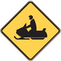 "Image logo for W11-6 - 24"" x 24"" x 0.080 Aluminum Sign: SNOW MOBILE CROSSING (Symbol)"
