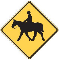 "Image logo for W11-7 - 24"" x 24"" x 0.080 Aluminum Sign: EQUESTRIAN CROSSING (Symbol)"