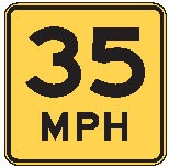 "Image logo for Speed Signs | W13-1p - 18"" x 18"" x 0.080 Aluminum Sign: SPEED LIMIT (Various Speeds)"