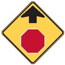 "Image logo for Warning Signs | W3-1 - 30"" x 30""x 0.080 Aluminum Sign: STOP AHEAD (Symbol)"